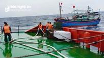 Tàu cá có 9 ngư dân Nghệ An bị hỏng máy, phát lệnh cấp cứu trên Vịnh Bắc Bộ lúc biển động dữ dội