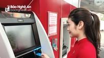 Agribank chi nhánh Tây Nghệ An tiên phong đưa vào sử dụng máy gửi, rút tiền tự động