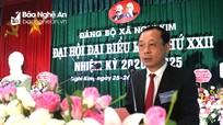 Đại hội đại biểu Đảng bộ xã Nghi Kim lần thứ XXII, nhiệm kỳ 2020 - 2025