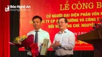 Nghệ An trao quyết định cử người đại diện phần vốn nhà nước tại Công ty CP môi trường đô thị