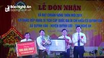 Quỳnh Văn (Quỳnh Lưu) đón Bằng công nhận xã đạt chuẩn nông thôn mới