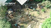 Con Cuông làm nhà tạm di dời dân ra khỏi vùng nguy cơ sạt lở cao