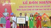 Đón Bằng Di tích lịch sử văn hóa cấp tỉnh Miếu Quận Công và Cụm nhà thờ họ Nguyễn