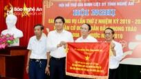Hội Hỗ trợ gia đình liệt sỹ đón nhận Cờ thi đua xuất sắc của UBND tỉnh