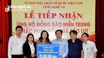 Nghệ An: 27,5  tỷ đồng đăng ký ủng hộ người dân vùng lũ miền Trung