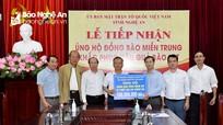 500 triệu đồng ủng hộ đồng bào 2 huyện Hưng Nguyên và Thanh Chương bị thiệt hại do thiên tai
