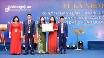 Trường THPT Nghi Lộc 3 đón nhận Huân chương Lao động hạng Ba và đạt chuẩn Quốc gia