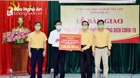 MTTQ tỉnh Nghệ An trao 7 tỷ đồng ủng hộ lực lượng tuyến đầu phòng, chống dịch