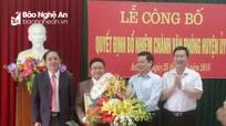 Bổ nhiệm Chánh Văn phòng Huyện ủy Anh Sơn