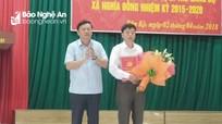 Công bố quyết định bổ nhiệm Bí thư Đảng ủy xã Nghĩa Đồng (Tân Kỳ)