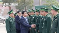 Bí thư Trung ương Đảng Nguyễn Xuân Thắng thăm Đồn Biên phòng Cửa khẩu Thanh Thủy