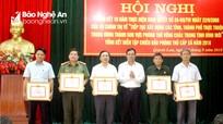 Khen thưởng nhiều tập thể, cá nhân xuất sắc trong xây dựng khu vực phòng thủ ở Quỳnh Lưu
