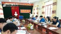 Kiểm tra công tác dân vận chính quyền tại huyện Tân Kỳ