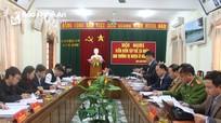 Ban Thường vụ Huyện ủy Anh Sơn kiểm điểm tập thể, cá nhân năm 2018