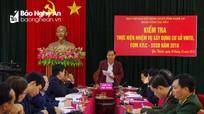Phó Chủ tịch HĐND tỉnh kiểm tra an toàn làm chủ, sẵn sàng chiến đấu tại Yên Thành