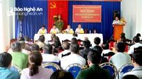 Đoàn ĐBQH tỉnh tiếp xúc cử tri người Nghệ An ở Gia Lai