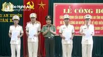 Điều động 12 công an chính quy đảm nhiệm chức danh công an xã thuộc huyện Tân Kỳ