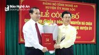 Nghi Lộc có tân Phó Bí thư Thường trực Huyện ủy
