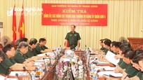 Ban Thường vụ Quân ủy Trung ương kiểm tra Đảng ủy Quân khu 4