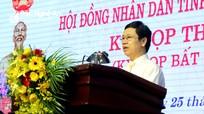 Chủ tịch HĐND tỉnh: Tổ chức kỳ họp bất thường để giải quyết những vấn đề cấp thiết