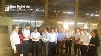Đoàn cán bộ lớp nguồn quy hoạch Ủy viên BCH Đảng bộ tỉnh nghiên cứu, khảo sát tại Thanh Chương