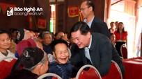 Chủ tịch UBND tỉnh Thái Thanh Quý thăm, chúc Tết đồng bào, chiến sỹ huyện Kỳ Sơn