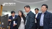 Bí thư Tỉnh ủy, Chủ tịch UBND tỉnh làm việc với Báo Nghệ An