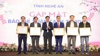 Thường trực Tỉnh ủy Nghệ An gặp mặt các cơ quan báo chí Xuân Canh Tý 2020