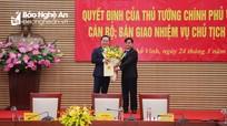 Công bố quyết định của Thủ tướng Chính phủ phê chuẩn chức danh Chủ tịch UBND tỉnh Nghệ An