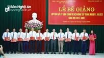 Bí thư Trung ương Đảng Nguyễn Xuân Thắng dự bế giảng lớp cao cấp chính trị tại Nghệ An