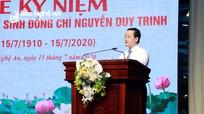 Chủ tịch UBND tỉnh: 'Đảng bộ và nhân dân Nghệ An mãi mãi tự hào về đồng chí Nguyễn Duy Trinh'