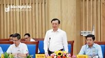 Bộ trưởng Bộ Tài chính làm việc với lãnh đạo tỉnh Nghệ An