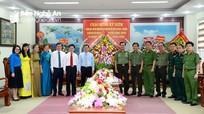 Lãnh đạo tỉnh Nghệ An chúc mừng ngày truyền thống Công an nhân dân