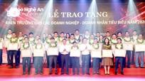 Tỉnh Nghệ An khen thưởng các tập thể, doanh nhân trẻ