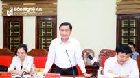 Bí thư Tỉnh ủy Thái Thanh Quý làm việc với Đoàn công tác tỉnh Hậu Giang