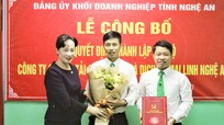 Đảng ủy Khối Doanh nghiệp Nghệ An công bố thành lập chi bộ Đảng tại một công ty cổ phần