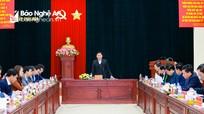 Bí thư Tỉnh ủy Thái Thanh Quý làm việc với Ban Thường vụ Thị ủy Thái Hòa