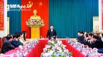 Họp Đoàn đại biểu Đảng bộ tỉnh Nghệ An dự Đại hội đại biểu toàn quốc lần thứ XIII của Đảng
