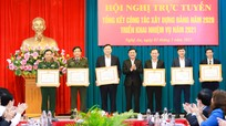 Ban Thường vụ Tỉnh ủy Nghệ An tổng kết công tác xây dựng Đảng năm 2020, triển khai nhiệm vụ năm 2021