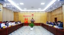 Thống nhất 8 nội dung Tổ Tư vấn phát triển kinh tế - xã hội sẽ tư vấn cho tỉnh Nghệ An năm 2021