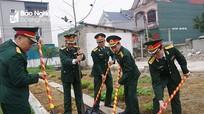 Bộ CHQS tỉnh Nghệ An phát động Tết trồng cây