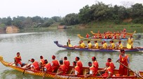 Hào hứng cuộc đua 'Hội chèo bơi đền Quả Sơn'