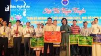 Bệnh viện ĐKTP Vinh đạt giải Nhất Hội thi 'Cán bộ y tế đổi mới phong cách, thái độ phục vụ' khu vực