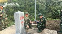 Bộ đội biên phòng Nghệ An tuần tra bảo vệ đường biên, cột mốc