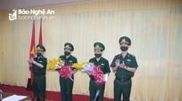 Trao quyết định chuẩn y 2 đồng chí tham gia Ban Thường vụ Đảng ủy BĐBP tỉnh