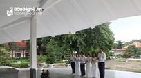 Báo Nghệ An dâng hoa, dâng hương tại Khu Di tích cụ Phó bảng Nguyễn Sinh Sắc