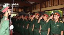 Bộ CHQS tỉnh dâng hoa tưởng niệm các Anh hùng liệt sĩ Xô Viết Nghệ - Tĩnh