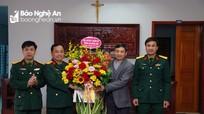 Bộ CHQS tỉnh Nghệ An chúc mừng các giáo xứ nhân Lễ Giáng sinh năm 2020