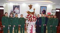 Bộ Chỉ huy BĐBP Nghệ An chúc mừng Tòa Giám mục Giáo phận Vinh và các giáo xứ nhân dịp Lễ Noel 2020