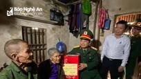 Chỉ huy trưởng Bộ CHQS tỉnh thăm, chúc Tết tại huyện Nghĩa Đàn